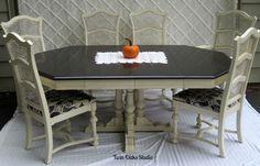 annie sloan chalk painted pedestal tables - Google Search
