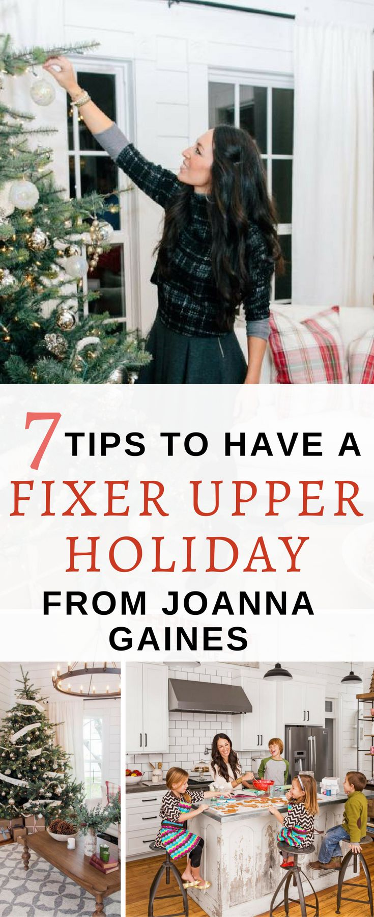 Yes!! Some great tips from Joanna's Instagram, blog and interviews to decorate for the holidays. Saving, so I can be just like Joanna this Christmas.