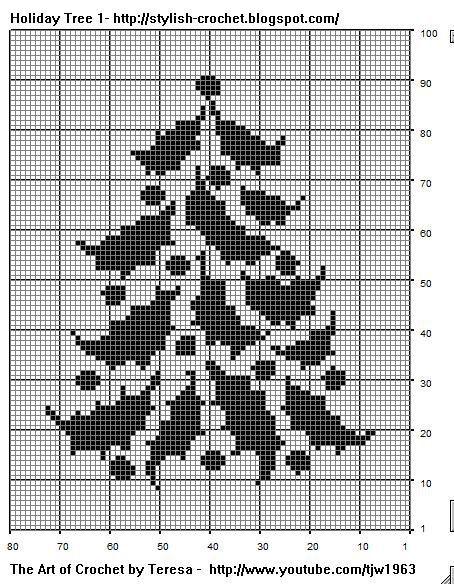 Free Filet Crochet Charts and Patterns: November 2008