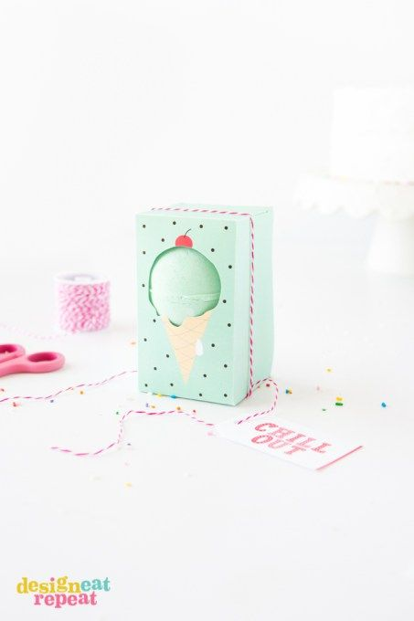 FREE Printable Ice Cream Bath Bomb Box