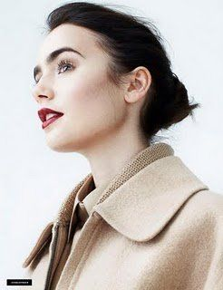 Lily Collins; love the lipstick color