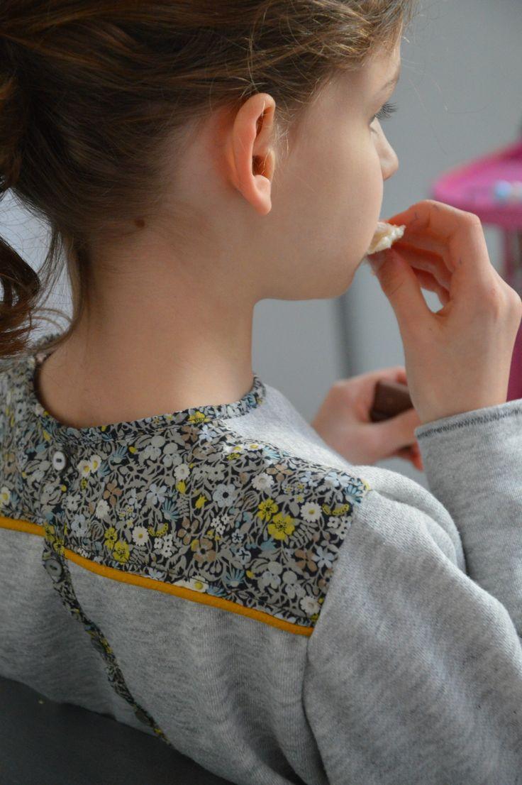 mapruneceleste - back detail of sweatshirt