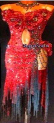L 3749 бальные ритм сальса Чача Латинской Самба свинг танец платье США 12 красная бахрома