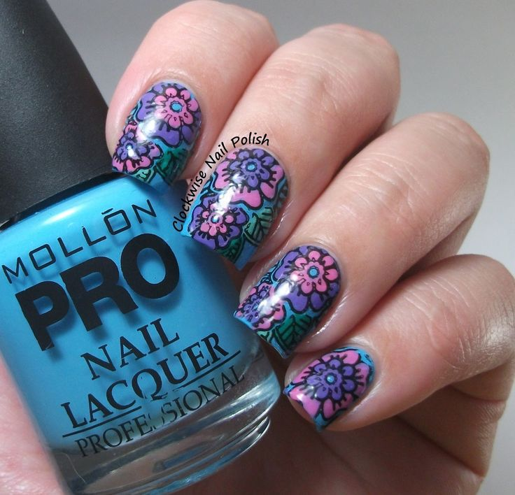 414 best nail art plates i love images on pinterest make up the clockwise nail polish mollon pro 189 attitude stamping decals with moyou explorer 03 plate prinsesfo Images