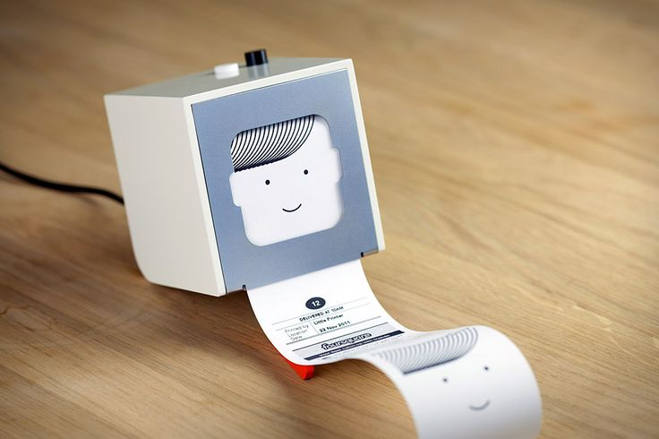 Little Printer is a tiny thermal printer that connects tot he cloud to bring you customized news updates printed on a receipt sized publication
