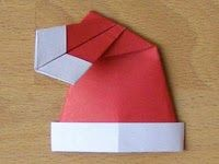 Christmas Origami: Santa Hat