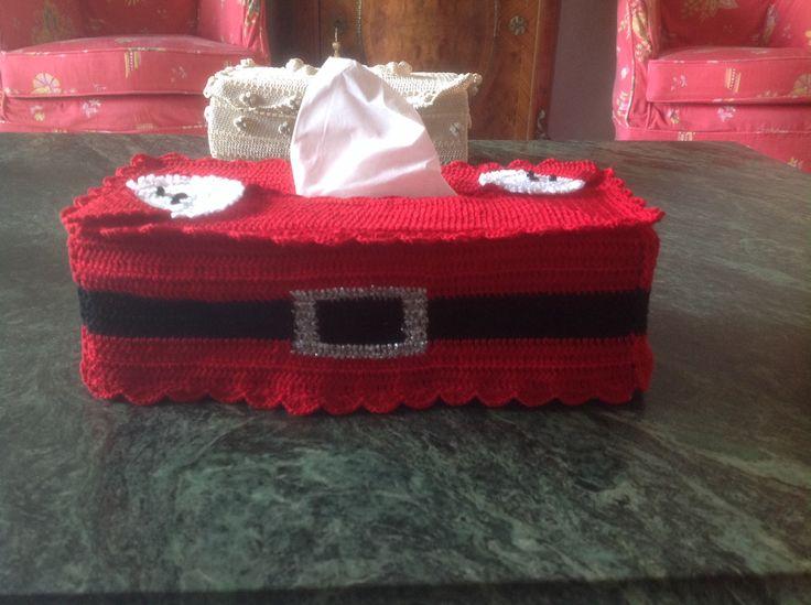 Santa tissue box