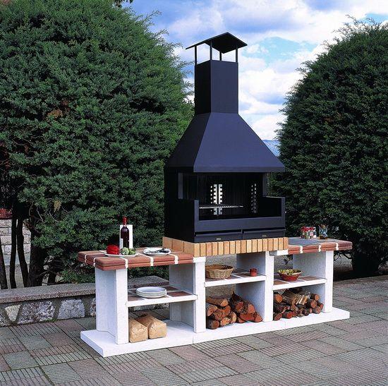 Barbacoa metalica rocal modelo fornells exterior campana for Exterior de casas