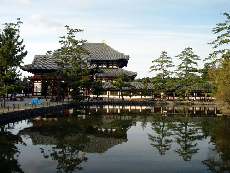 Todai-ji Tempel, beherbergt die größte buddhistische Bronzestatue (16m)