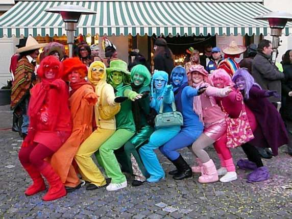 Regenbogen | Kostüm Idee für Gruppen zu Karneval, Halloween & Fasching