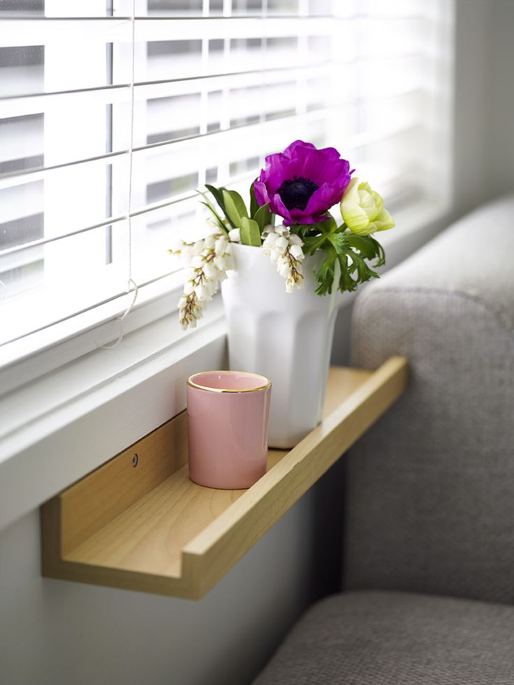 DIY use picture shelf as window shelf - Made From Scratch's Your Home and Garden Home Tour
