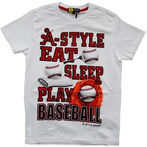 Maglia Manica Corta Ragazzo A-Style Baseball #bambino #maglietta http://www.allegribriganti.it/bambino/maglia-manica-corta-ragazzo-a-style-baseball/
