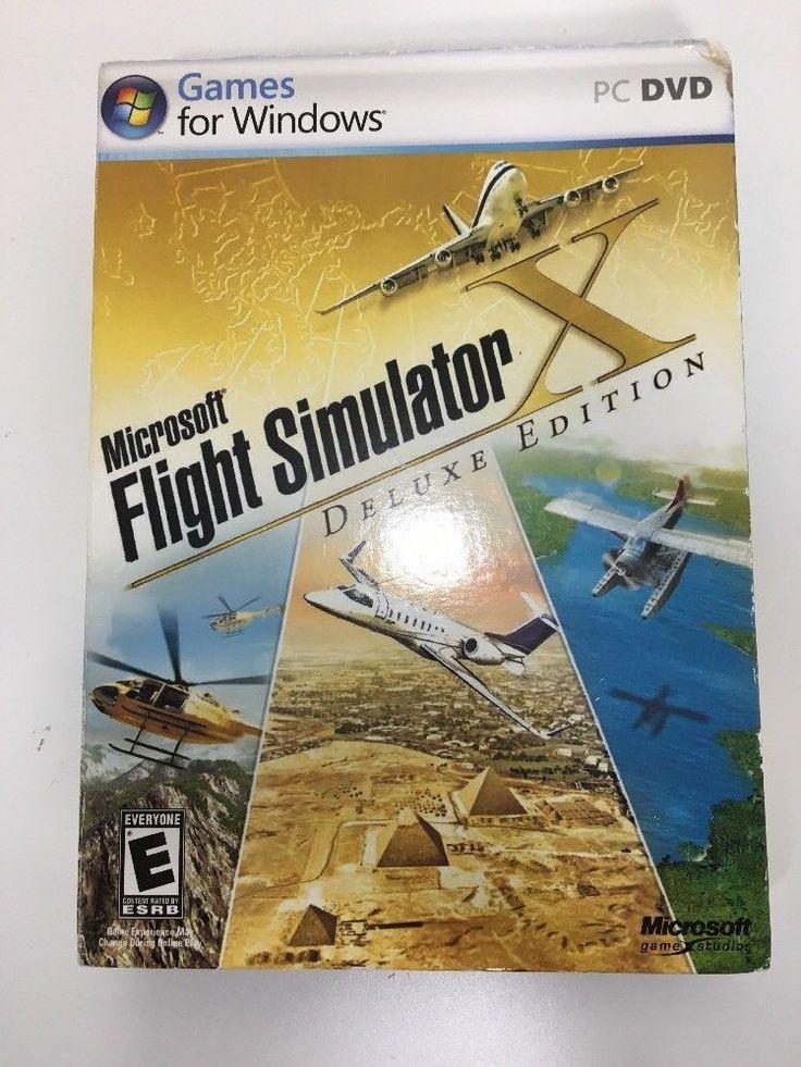 Microsoft Flight Simulator X Deluxe Edition Games for Windows PC DVD 2006 W/ Key