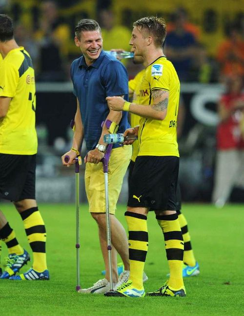 Łukasz Piszczek and Marco Reus... poor Piszczek after hip surgery