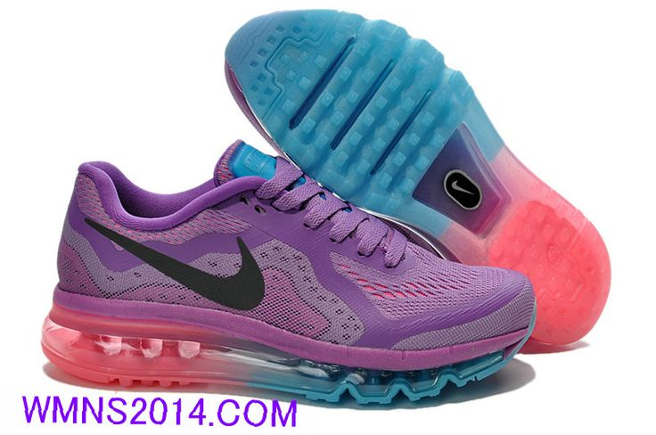 2013 New #Nike Air Max 2014 Womens Laser Purple Jade Blue Black Pink 621078 501 for $83.82 | Nice | Pinterest | Nike Air Max, Nike Air and Jade
