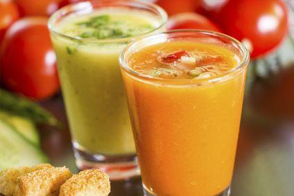 Gazpacho de mango   Recetas Thermomix. Cocinar con robot Thermomix TM31 TM5, recetas fáciles, menús completos, tradicionales.