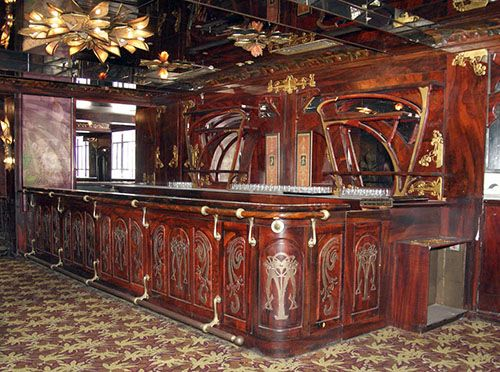 Phenomenal Art Nouveau Style Restaurant Bar Lounge