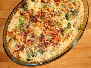 Zapiekanka z kurczakiem, brokułami i serem feta |