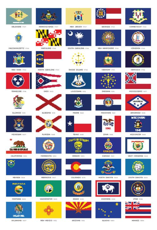 Remarkable image in printable state flags