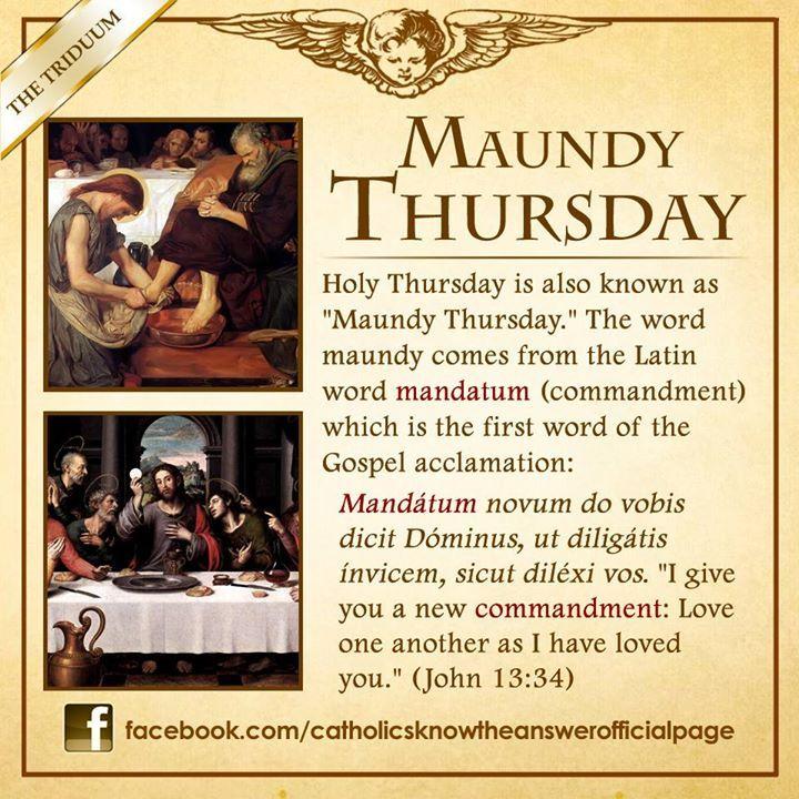 What is Maundy Thursday? © Catholics Know The Answer #ChooseToBeBrave #YearOfTheLaity #JesusChrist #Catholic #Christian #Catholicism #CatholicsKnowTheAnswer #CKA #Catechism #MaundyThursday