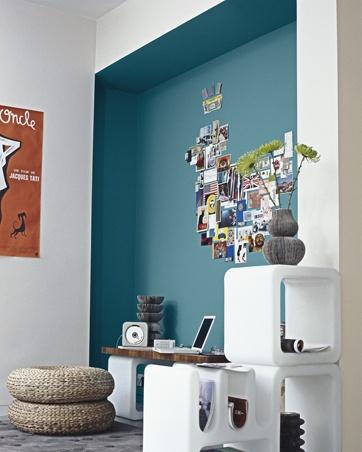 bleu canard deco - Bleu Attu Salon