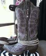 """BOOT BLING!! Very sparkly! Looks great on cowgirl boots, dress boots, ankle boots....etc! OMG...these are coming back! I had """"boot belts"""" in the 90's when I was a line dance nerd! Still love them though, I wish I had my old one!"""