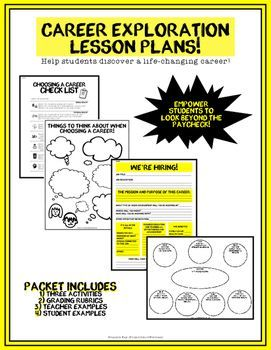 Career Exploration Packet (Career Lesson Plans, Career Day)