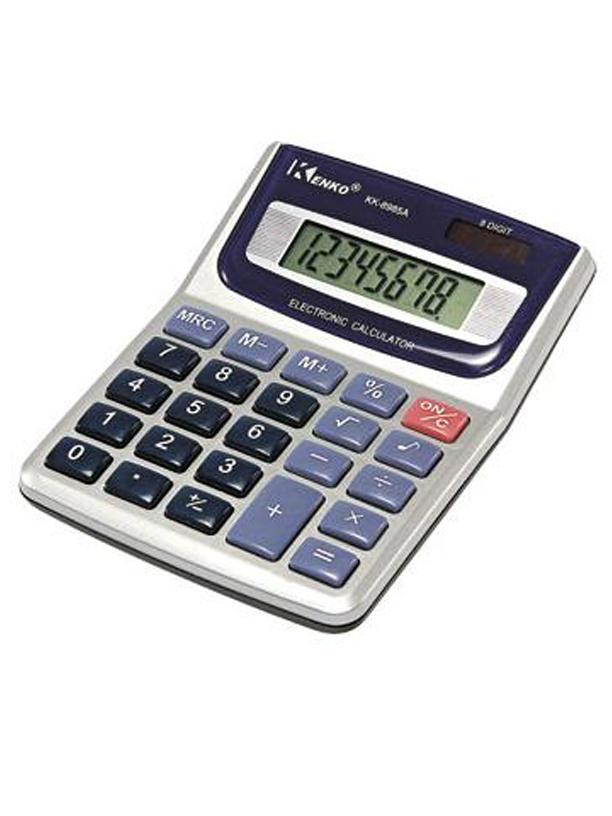 CALCULADORA KENKO KK-8985.  Calculadora 8 dígitos;  Operações básicas;  Raiz quadrada;  Porcentagem.