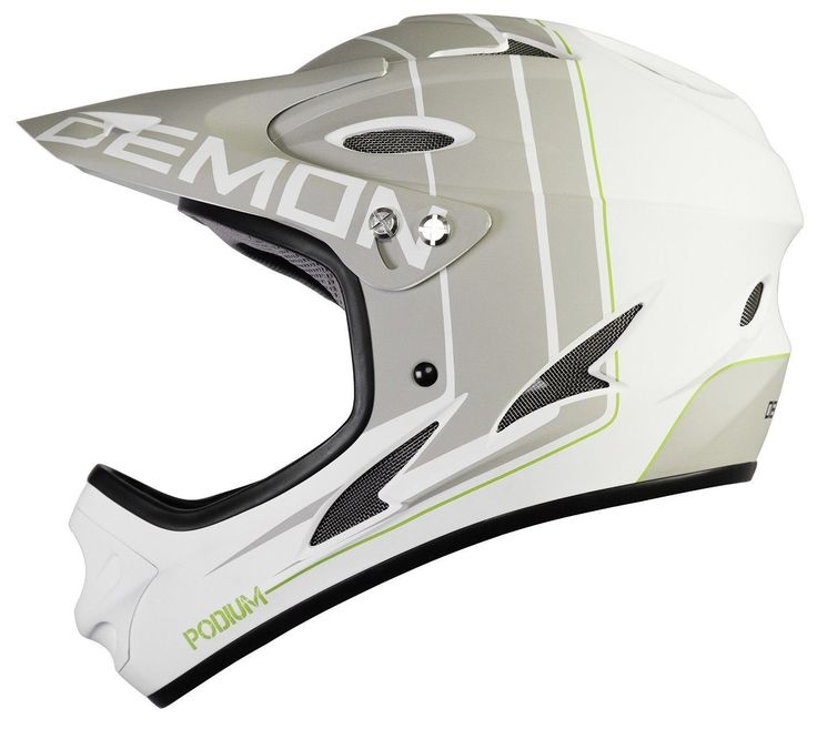 Demon Podium Full Face Mountain Bike Helmet White Large