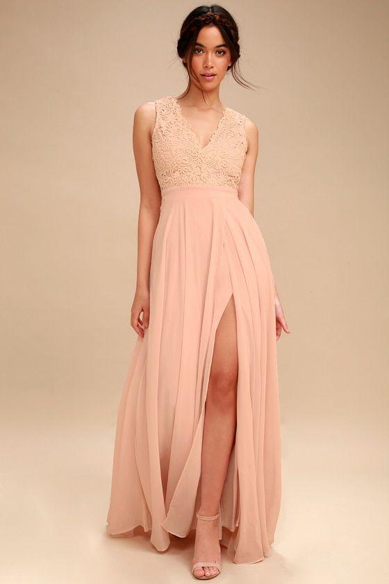 bbaa054f41e4 Do Re Mi Blush Pink Lace Backless Maxi Dress 2