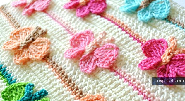 2 of 2 | MyPicot | Crochet Butterfly Pattern | Free crochet patterns