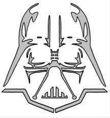 Star Wars - Darth Vader  Free Halloween pumpkin carving stencil design template pattern