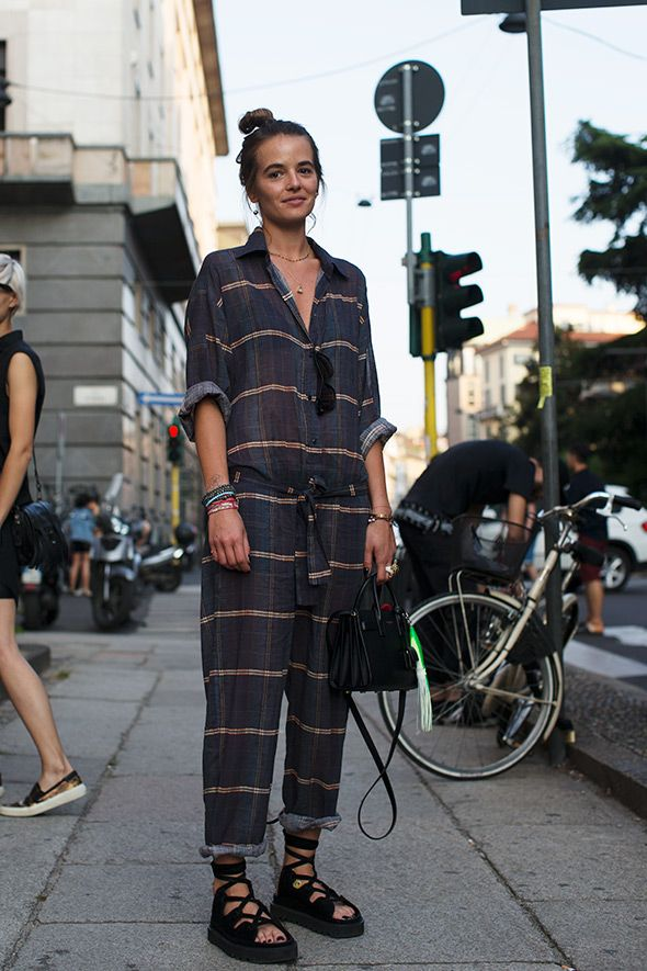 My favorite kind of style. So effortless and feminine with just the right touches of menswear. Wish I could pull this off! On the Street…..Via Senato, Milan - The Sartorialist