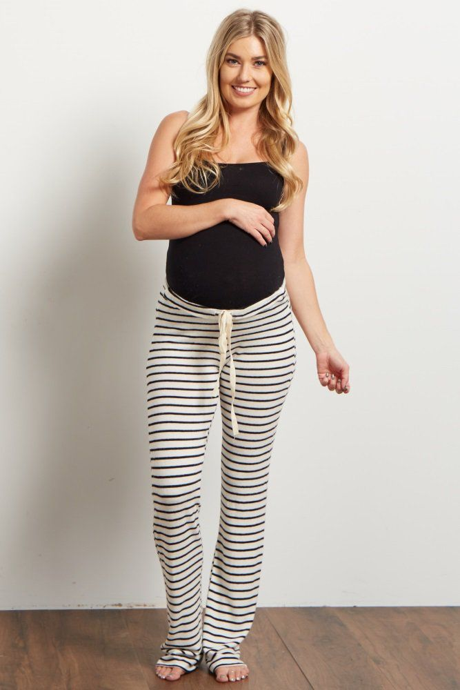 Get comfortable after a long day with the most amazing, soft knit maternity pajama pants in existence. An elastic material and drawstring waist allow for a week to week amazing fit that will keep you cool and comfy throughout the night.
