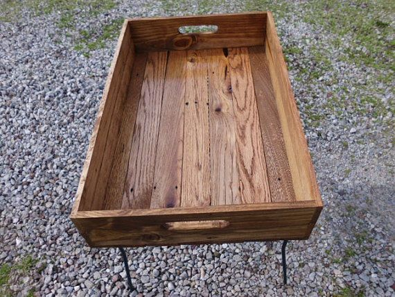 Reclaimed Wooden Serving Tray With Early American by phyllissexton