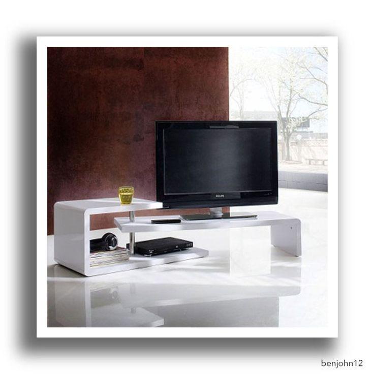 Coffee Table 3 Layers White High Gloss: Rotating Lcd Tv Stand White High Gloss Low Board Coffee