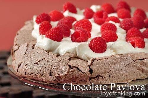 Chocolate Pavlova Recipe | Desserts | Pinterest