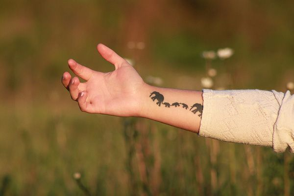 55 Elephant Tattoo Ideas | Cuded. .....I like this one...