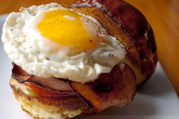 Fried Salami and Egg Sandwich | Fried bologna, Bologna ...