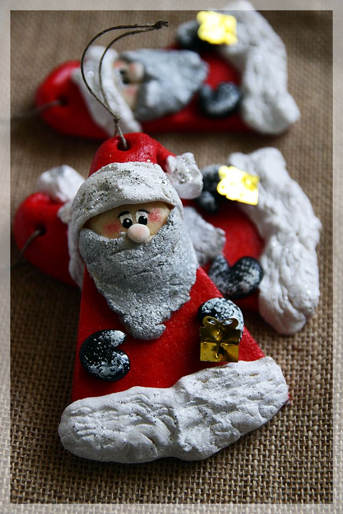 Salt Dough Santa Claus