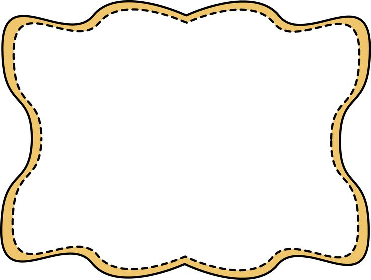 Wavy stitched frame labels stickers pinterest yellow and frames