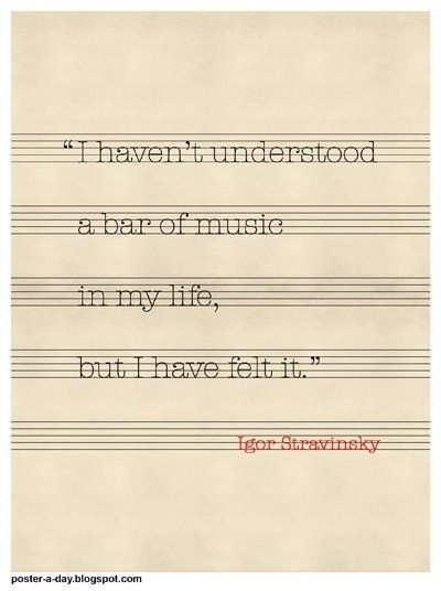 I can read music kinda but I never feel it when I'm playing it, only when I'm hearing it.