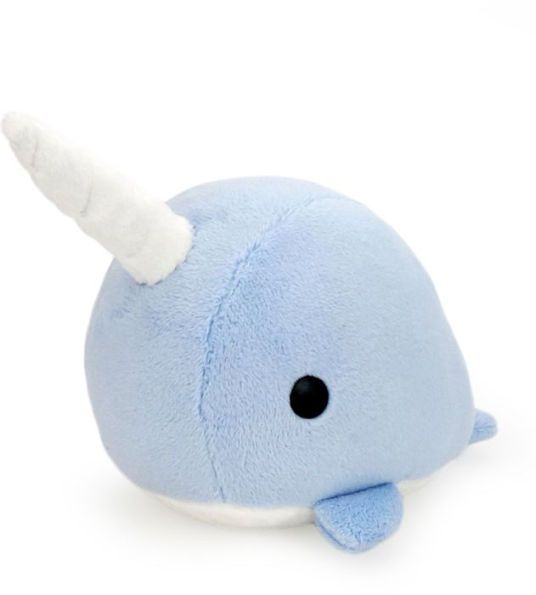Bellzi Blue Narwhal Stuffed Animal Plush - Narrzi