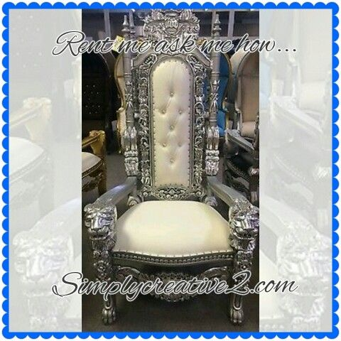 Elegant King Throne Chair. Rent Me Ask Me How