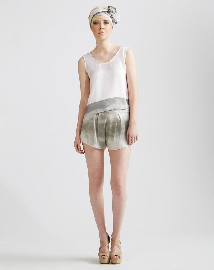 Silk Headscarf, Tank Top, Stretch Silk Shorts available online at www.jenkinsandjane.com.au