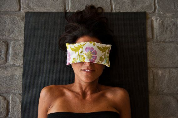 Yoga eye pillow with lavender fresh from Vermont in pretty blooms