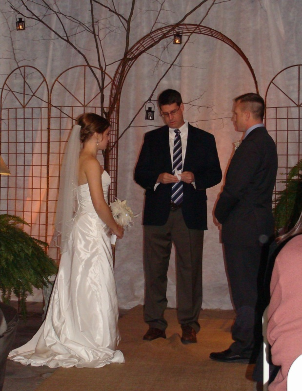 Callie and Michael. Feb 16th 2013.  Greenhouse wedding at Scheiderer Farms