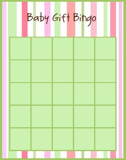 Baby Gift Bingo : Baby gift bingo
