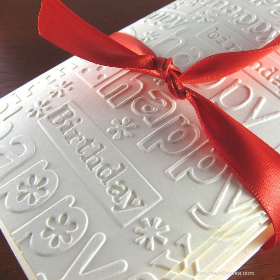 Embossed Cards with Matching Envelopes