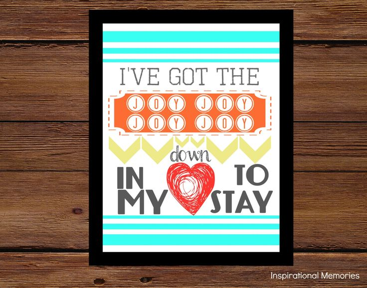 "Framed Children's Church Song Print ""I've got the joy joy joy joy down in my heart to stay ""  Home& Kid's Decor 8.5x11 OR 5x7 by inspirationalmemory on Etsy https://www.etsy.com/listing/195150424/framed-childrens-church-song-print-ive"